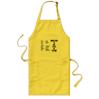 Morse Code Is My Style Of Texting Intl Morse Code Long Apron