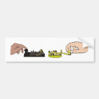 Morse Code Keys Bumper Sticker Car Bumper Sticker