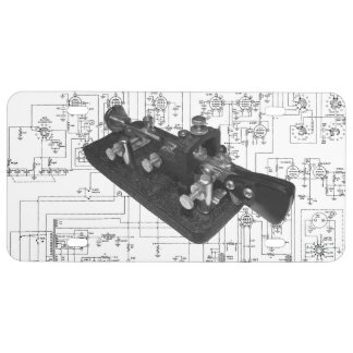 Morse Code Radio Key Schematic License Plate