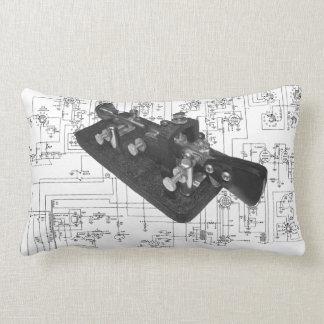 Morse Code Radio Key Schematic Lumbar Pillow