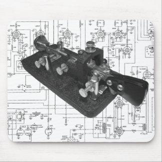 Morse Code Radio Key Schematic Mouse Pad