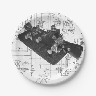Morse Code Radio Key Schematic Paper Plates 7 Inch Paper Plate