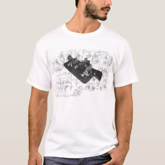 Morse Code Radio Key Schematic T-Shirt