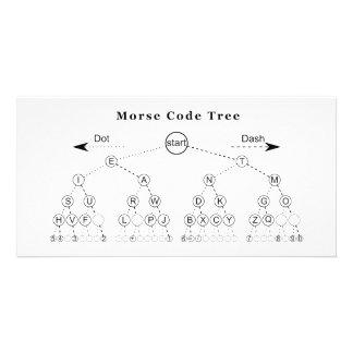 Morse Code Tree Diagram Customized Photo Card