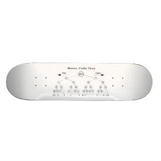 Morse Code Tree Diagram Skateboard Deck