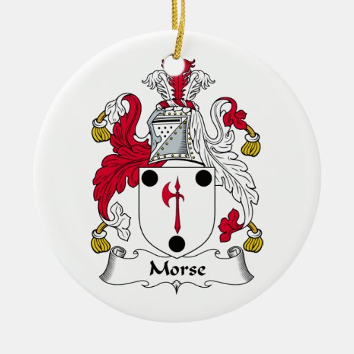 Morse Family Crest Christmas Tree Ornaments
