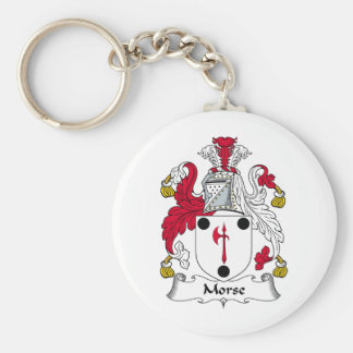 Morse Family Crest Basic Round Button Keychain