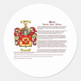 Morse (history) classic round sticker