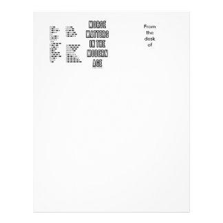 Morse Matters In The Modern Age (Morse Code) Letterhead
