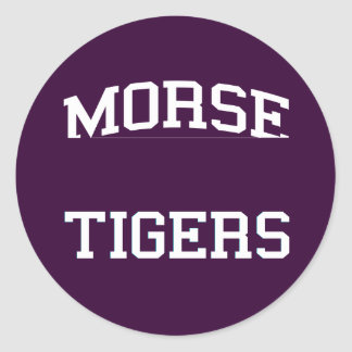 Morse - Tigers - High - San Diego California Stickers