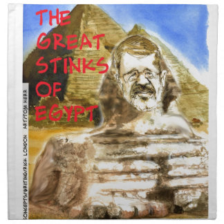 Morsi Great Stinks Of Egypt Funny Cloth Napkins