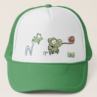 Mort and Wart The Frogs Trucker Hat