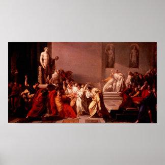Mort de Cesar, muerte de César Póster
