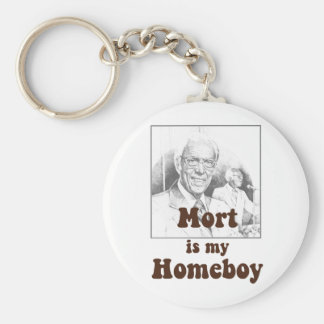 Mort is my Homeboy Basic Round Button Keychain