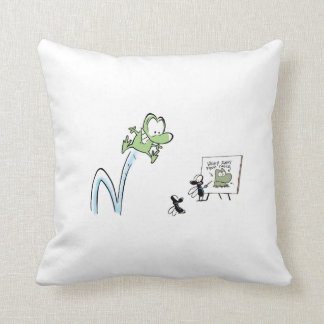 Mort The Frog Lunch Time Pillow