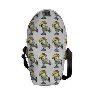 Mort The Frog Roller Blade Cartoon Courier Bag