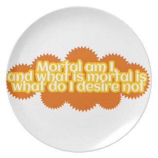 Mortal am I Plate
