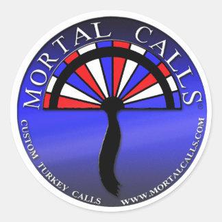 Mortal Calls window stickers decals bumper sticker