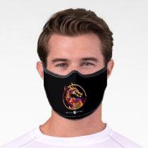 Mortal Kombat Polygonal Fire Logo Premium Face Mask
