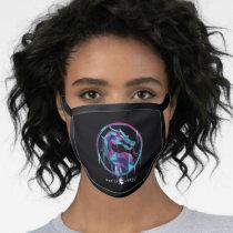 Mortal Kombat Polygonal Ice Logo Face Mask