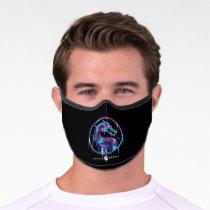 Mortal Kombat Polygonal Ice Logo Premium Face Mask