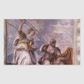Mortal Man Guided to Divine Eternity Paolo Verones Rectangular Sticker