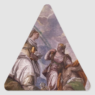 Mortal Man Guided to Divine Eternity Paolo Verones Triangle Sticker