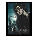 Mortal santifica - Bellatrix Lestrange 2 Tarjetas Postales