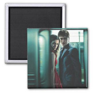 Mortal santifica - Harry y Hermione Imán Para Frigorífico