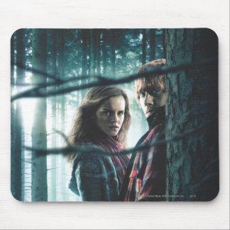 Mortal santifica - Hermione y Ron Alfombrillas De Raton