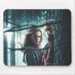 Mortal santifica - Hermione y Ron Alfombrillas De Ratón