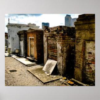 Mortalidad, no. 1 del cementerio de St. Louis Póster