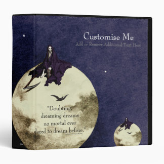 Mortality and the Moon 3 Ring Binder