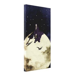 Mortality and the Moon Canvas Print