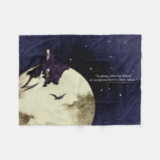 Mortality and the Moon Fleece Blanket
