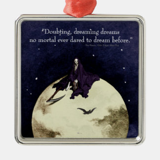 Mortality and the Moon Metal Ornament