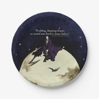 Mortality and the Moon Paper Plate