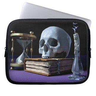 MORTALITY! (skull, tome, candle & hourglass) ~ Computer Sleeves