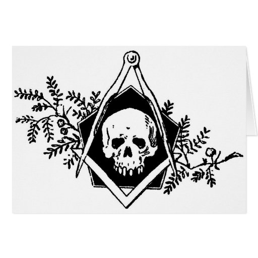 Mortality Square and Compasses Greeting Card