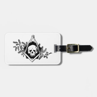 Mortality Square and Compasses Luggage Tag