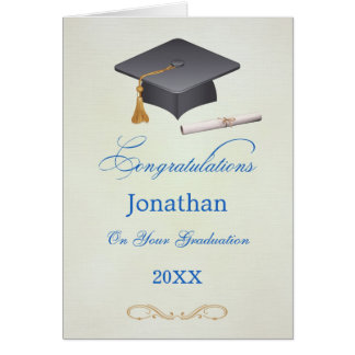 Mortar and diploma Graduation Congratulations Gard Card