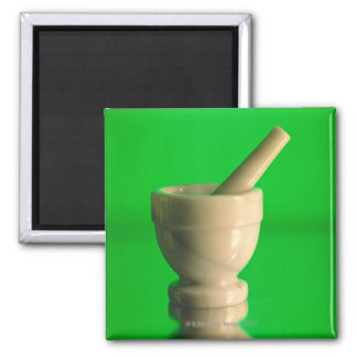 Mortar and pestle 2 inch square magnet