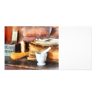 Mortar and Pestle and Box of Cocoa Photo Card