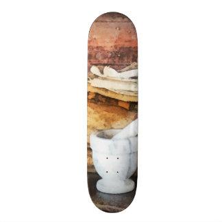 Mortar and Pestle and Box of Cocoa Custom Skateboard