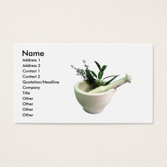 Mortar and Pestle Business Card