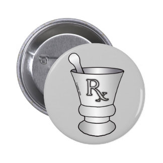 Mortar and Pestle 2 Inch Round Button