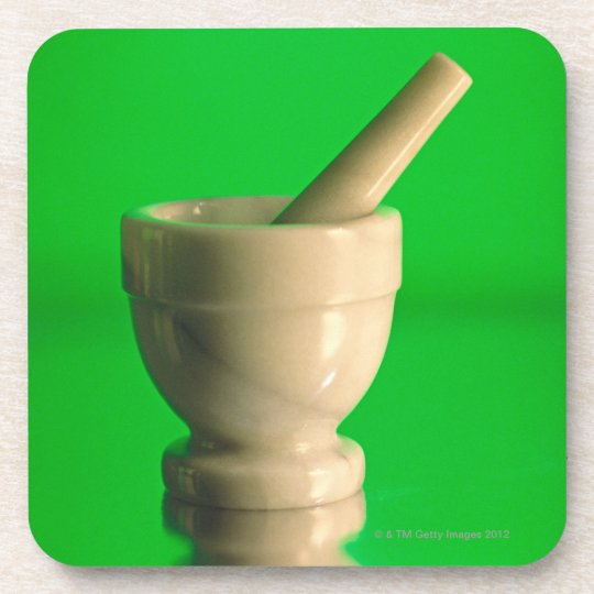 Mortar and pestle drink coaster