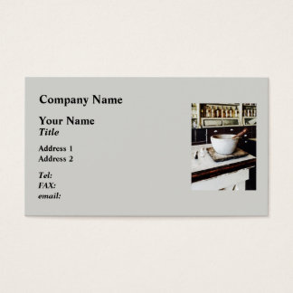 Mortar and Pestle in Apothecary Business Card