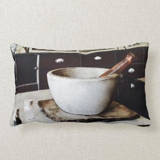 Mortar and Pestle in Apothecary Lumbar Pillow