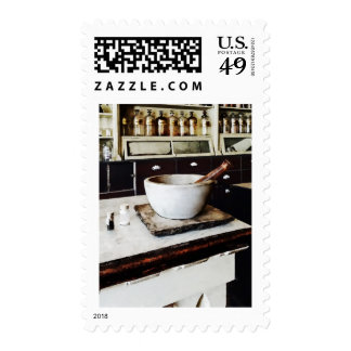 Mortar and Pestle in Apothecary Postage